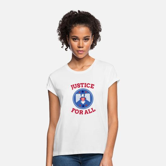 Usa T-Shirts - Justice For All | America - Women's Loose Fit T-Shirt white