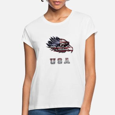 Epic Patriotic Eagle USA Flag Freedom Design - Women's Loose Fit T-Shirt