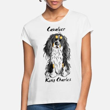 King Cute Cavalier King Charles Spaniel - Women's Loose Fit T-Shirt