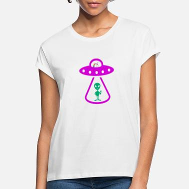Alien Abducted by Unicorn - Women's Loose Fit T-Shirt