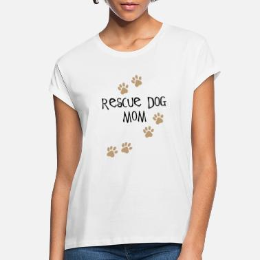 Rescue Rescue Dog Mom - Black - Women's Loose Fit T-Shirt
