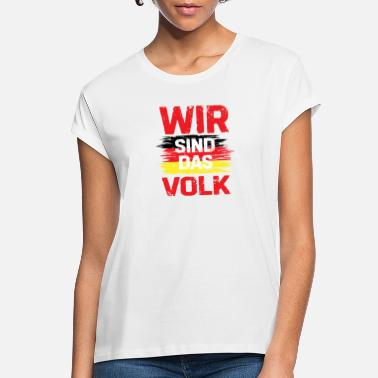 Federal Republic Of Germany We are the people of Germany gift flag - Women's Loose Fit T-Shirt