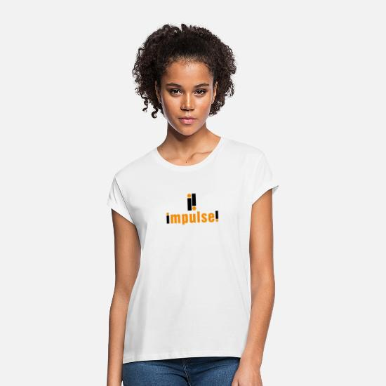 Record T-Shirts - Impulse Record Label - Women's Loose Fit T-Shirt white