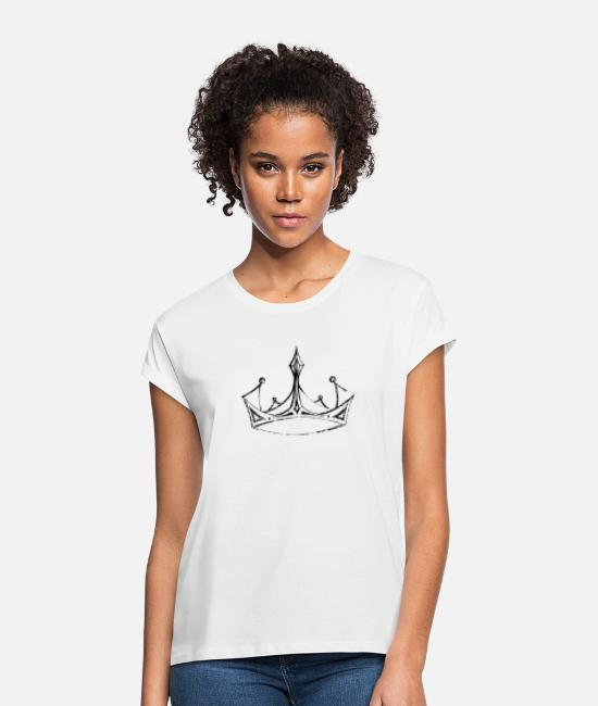 Occupation T-Shirts - Crown - Women's Loose Fit T-Shirt white