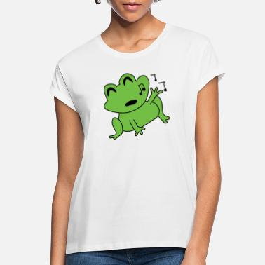 Tadpole Singing frog - Women's Loose Fit T-Shirt