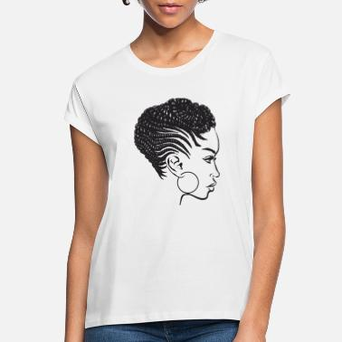 Natural Black Woman Braids Dreads Nubian Princess Queen - Women's Loose Fit T-Shirt