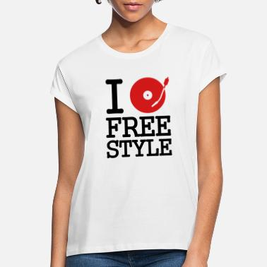 Dj I dj / play / listen to freestyle - Women's Loose Fit T-Shirt