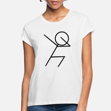 Move Dabbing Dab Dance Move Stickman Funny Soccer Gift - Women's Loose Fit T-Shirt