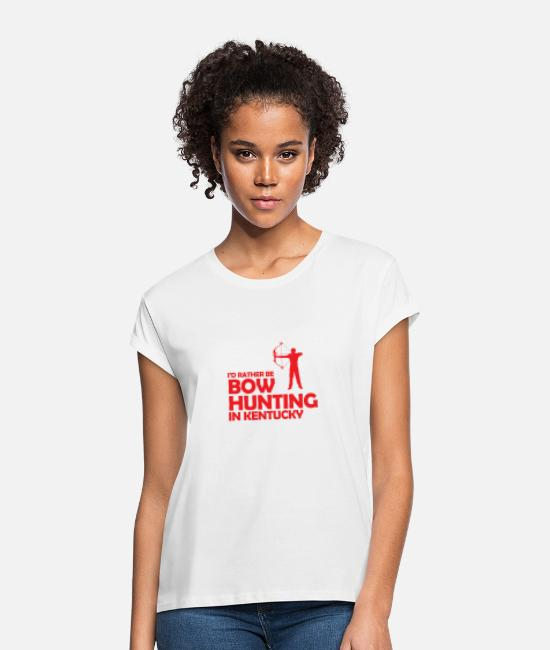 Bowler T-Shirts - bow hunting - Women's Loose Fit T-Shirt white