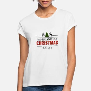 Green Island Island Christmas Black Green Burgundy Nostalgic - Women's Loose Fit T-Shirt