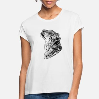 Leopard Snow leopard - ink illustration - Women's Loose Fit T-Shirt