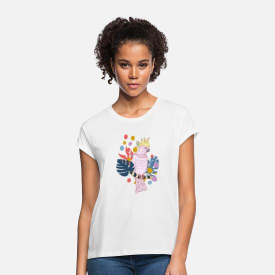 Junglecontest T-Shirts - Colour Cockatoo - Women's Loose Fit T-Shirt white