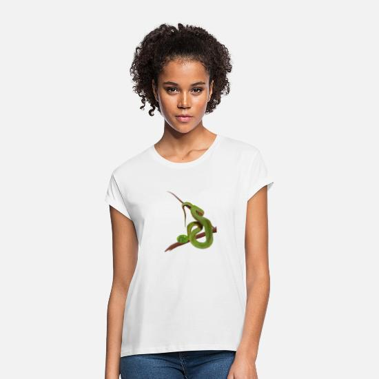Snake T-Shirts - snake - Women's Loose Fit T-Shirt white