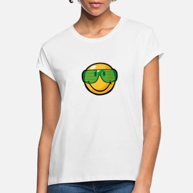 Smile SmileyWorld Green Shades Smiley - Women's Loose Fit T-Shirt