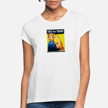 Wall Donald Trump Rosie The Riveter 2016 Build A Wall - Women's Loose Fit T-Shirt