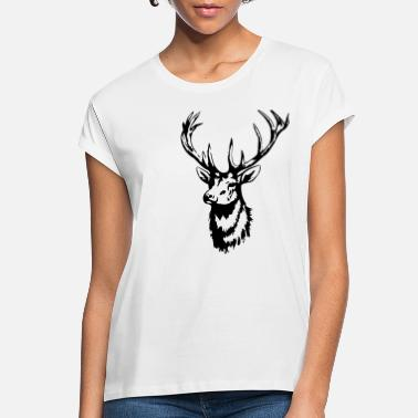 Roe Deer Deer - Deer Head - Deer Antler - Roe Deer - Women's Loose Fit T-Shirt