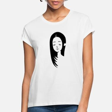 Girl with long hair - Women's Loose Fit T-Shirt