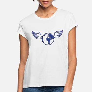 Ecology earth with wings - Women's Loose Fit T-Shirt