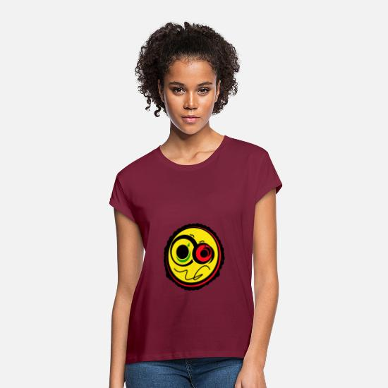 Rasta T-Shirts - Rasta Ambi - Women's Loose Fit T-Shirt burgundy