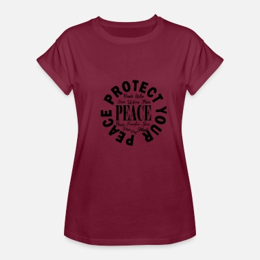 Never Lose Faith Protect Your Peace in Black - Women's Relaxed Fit T-Shirt