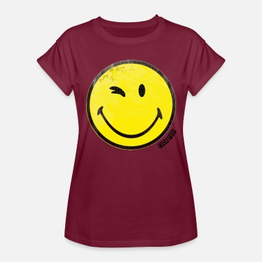 Smiley Fuck You Winky smiley with lettering Fuck You! - Women's Relaxed Fit T-Shirt