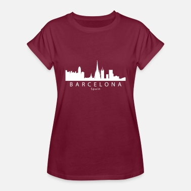 Spain Barcelona Spain Skyline - Women's Relaxed Fit T-Shirt