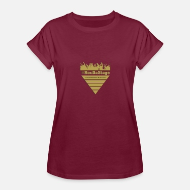 Open Mic #RocDaStageLive Logo - Women's Relaxed Fit T-Shirt