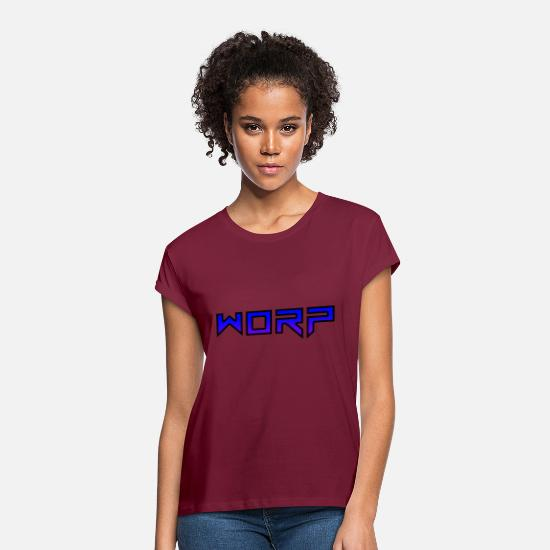 Text T-Shirts - Text - Women's Loose Fit T-Shirt burgundy