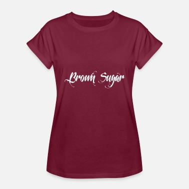 Browning Logo Brown Sugar White logo - Women's Relaxed Fit T-Shirt