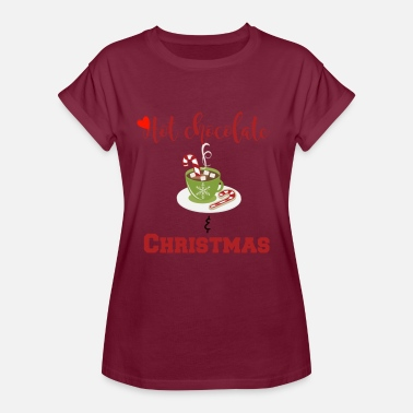Chocolate Hot chocolate and Christmas tee sweets - Women's Relaxed Fit T-Shirt