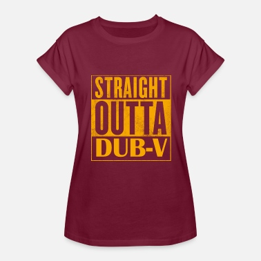 V Dub STRAIGHT OUTTA DUB-V - Women's Relaxed Fit T-Shirt
