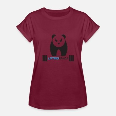 Panda Weight Lifting Lifting Panda - Women's Relaxed Fit T-Shirt