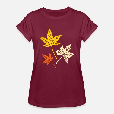Canadian Indian Leaves from the maple, Indian summer, Canada. - Women's Relaxed Fit T-Shirt
