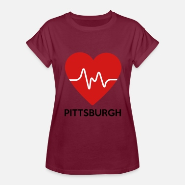 Pittsburgh Hometown Heart Pittsburgh - Women's Relaxed Fit T-Shirt