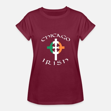 Celtic Pride Ireland American Pride Celtic Cross Chicago Irish - Women's Relaxed Fit T-Shirt