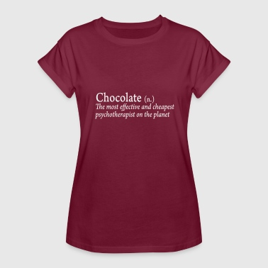 Chocolate - Funny Chocolate Saying - Dictionary - Women's Relaxed Fit T-Shirt