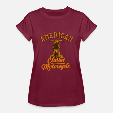 American Motors Art American classic motorcycle inscription cool art - Women's Relaxed Fit T-Shirt