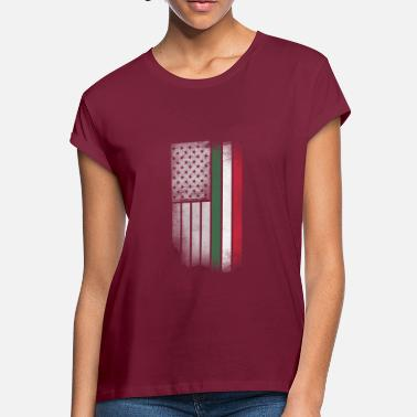 Hungarian Flag Hungarian American Flag - Women's Loose Fit T-Shirt