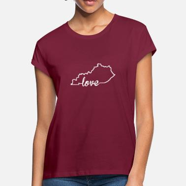 Kentucky State Kentucky Love State Outline - Women's Loose Fit T-Shirt