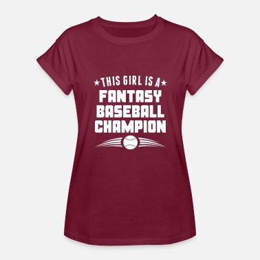 Champion Girl This Girl Is A Fantasy Baseball Champion - Women's Relaxed Fit T-Shirt