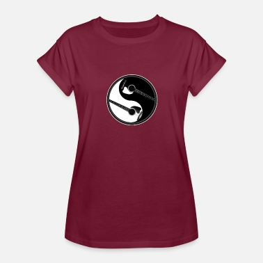 Tay Rock Music Yin Yang Guitars Peace Sign - Women's Relaxed Fit T-Shirt