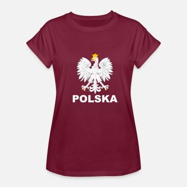 Polish Pride Polska Eagle / Polish Pride Design Coat of Arms - Women's Relaxed Fit T-Shirt