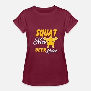 Beer Gym Funny Shirt For Gym Lover. Costume For Beer Lover. - Women's Relaxed Fit T-Shirt