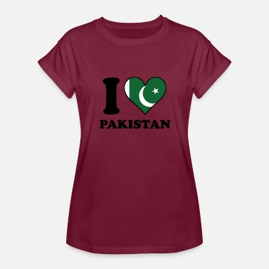 I Love Pakistan I Love Pakistan Pakistani Flag Heart - Women's Relaxed Fit T-Shirt