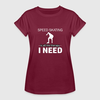 Speedskating Speedskating is my therapy - Women's Relaxed Fit T-Shirt