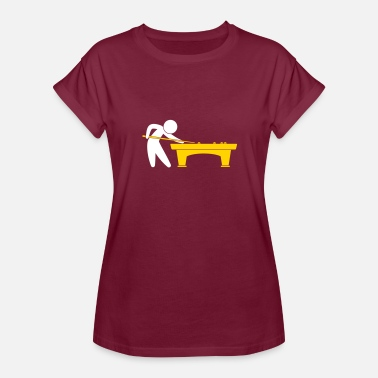 Pool Player A Pool Player Is On The Pool Table - Women's Relaxed Fit T-Shirt