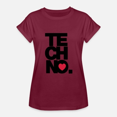 Colourful Techno TECHNO MUSIC - Women's Relaxed Fit T-Shirt