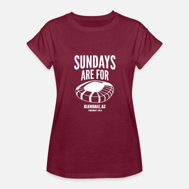 Football Field Music Sundays Are For Football Foot Ball - Women's Relaxed Fit T-Shirt