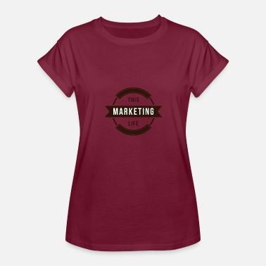 Browning Logo This Marketing Life Logo Brown - Women's Relaxed Fit T-Shirt