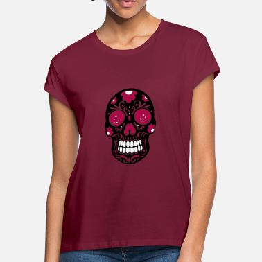 35a1bf28 Sugar Skull Day Of The Dead Traditional Mexican sugar skull, day of the dead.  Women's Loose Fit T-Shirt
